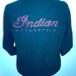 INDIAN MOTORCYCLE Lucky Brand sweater cardigan XL